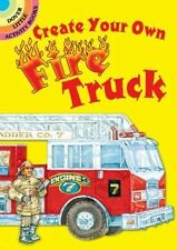 Create Your Own Fire Truck Sticker Activity Book Dover Little Activity Books NEW