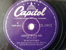 "78 rpm 10"" JO STAFFORD Abide with me / Nearer my god"