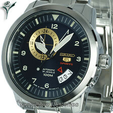 Mens SEIKO 5 SPORTS BLUE FACE DATE AUTO STAINLESS STEEL BRACELET SSA203 SSA203J1