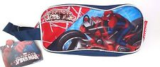 Marvel Ultimate Spider-Man 2 Compartment Zipper Pocket Carry-On Pencil Case NWT
