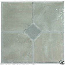 28 x Vinyl Floor Tiles - Self Adhesive - Bathroom Kitchen, Pale Grey Classic 181
