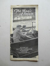 Original 1917 - 1918 Stanley steamer promotional booklet - The Magic of Steam