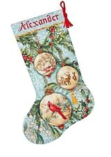 Dimensions Gold Counted Cross Stitch Kit Stocking ENCHANTED ORNAMENTS #70-08854