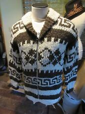 Vintage Genuine Cowichan Full Zip Shawl Collar.Cardigan Sweater Large