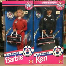 Sealed 1993 Air Force Thunderbirds Ken & Barbie Stars & Stripes NRFB Both Sealed
