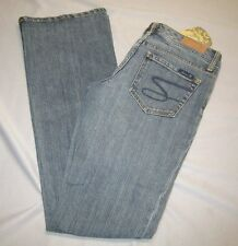 Seven 7 Jeans  Medium Blue Flare Jeans Juniors Jeans size 5 /27  29 x 33 Stretch