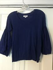 Moschino Blue Double Sleeve Cotton Blend Sweater - M