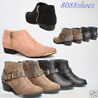 Women's Fashion Stylish Zip Up Buckle Ankle Bootie Shoes Size 5.5 - 10 All Size
