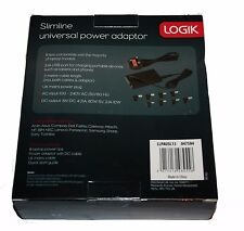 LOGIK LLPAUSL13 SlimLine Universal Laptop Power Adapter WITH  USB - RRP = £39.99