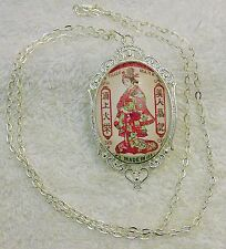NEW NECKLACE WOMAN WEARING TRADITIONAL ASIAN THEMED CLOTHING ARTISTIC LETTER JN1