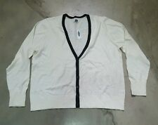 NWT XXL Cream/Black Cardigan Sweater from Old Navy