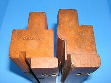 British King & Co fenced tongue & groove wood molding moulding plane pair