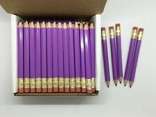 72 Lilac-purple Mini short Half Hexagon #2 pencil Eraser ExpressPencilTM