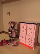 1:12th Scale Nursery Pink  Childs Wardrobe Dolls House Miniature Bedroom