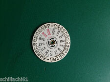 SEIKO 6309, Day & Date Wheel Dial, Genuine Seiko Nos, Fits Divers Crown At 4