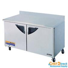 """Turbo Air TWR-60SD Super Deluxe 60"""" Double Door Worktop Refrigerator"""