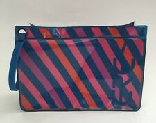 Eres Bikini Bathing Suit Bag Striped Wristlet Jelly Clutch Make Up Cosmetic