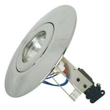 Brushed Chrome Converter downlight mains or 12 volt KIT