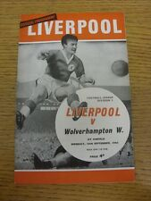16/09/1963 Liverpool v Wolverhampton Wanderers  (folded, team changes). Item app
