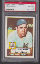 1983 Topps 1952 Reprint #191 YOGI BERRA (HOF) PSA 8 nm/mt New York YANKEES