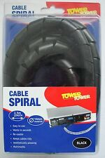 Tower 2.5m 14mm Diameter Black Reusable Cable Spiral 530848