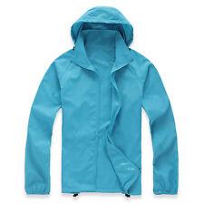 Men Women Waterproof Windproof Rain Coat Hooded Festival Mac Raincoat Jacket New