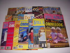 Doll World and Doll World Omnibook Magazine, Lot of 20, 1984 - 1988!
