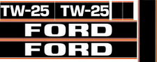 NEW TW25 FORD TRACTOR BLACK HOOD DECAL KIT HIGH QUALITY LONG LASTING DECALS