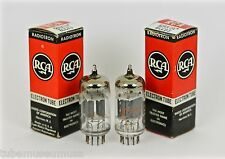 "NOS RCA 12AX7A 7025 ECC83 12AX7 USA PAIR ""CREAM OF THE CROP"" HIGHEST ECHELON!!!"