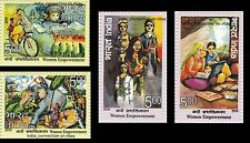 India Police Space Doctor Medicine Nurse Elephant Woman Stamp Set New MNH 2015