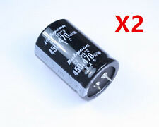 2PCS New 470uF 450V 470MFD 450Volt Electrolytic Capacitor 35mm x 50mm Radial