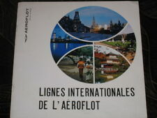 Booklet Air Plane Aeroflot International Route Craft Ways Lines  Map Aviation