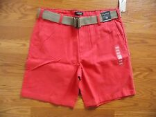 NWT Men's NAUTICA Sailor Red Belted Casual Shorts Size 36