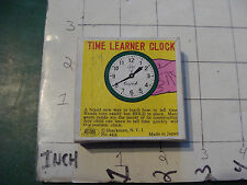 vintage trick/gag/ joke: THE LEARNER CLOCK in box, SHACKMAN made in Japan MINT