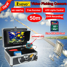 "50M 1000TVL Camera Fish Finder Underwater Video DVR 7"" w/ Infrared IR LED lights"