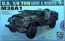 AFV Club 1/35 U.S. Army & Marine 1/4 Ton M38A1 Jeep