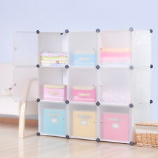 DIY Home Storage Cube Cabinet for Clothes Shoes Bags, Office, White (9) Cubitbox