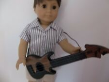 """Dark Brown Rock Guitar made for18"""" American Girl or Boy Doll Clothes New"""