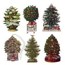 150 Victorian Die-cut Christmas Tree Gift Tags by Courtier