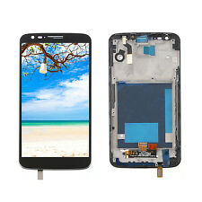 LCD Screen Digitizer Assembly + Frame Parts For LG Optimus G2 D800 D801 Black