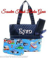 DIAPER BAG personalized baby tote Fire Truck EMS Police Rescue monogram NEW Boys