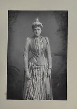 Fine 1890 Cabinet Card Portrait Photo Miss Agnes Huntington Actress W&D Downey