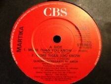 MARTIKA .E.P. MORE THAN YOU KNOW / I FEEL THE EARTH MOVE / TOY SOLDIERS . RARE
