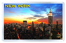 NEW YORK SUNSET MOD6 FRIDGE MAGNET SOUVENIR IMAN NEVERA