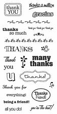 Fiskars Rubber Stamps - Grateful, Thanks, Thank You Friend, You're The Best