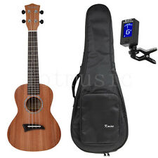 Solid Mahogany Top Tenor Ukulele Ukelele 26 inch Hawaii Guitar W/Bag and Tuner
