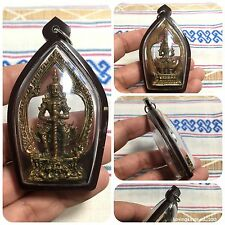 Nice West suwan Giant Rahu Om Chan Thai Amulet Luck Rich Success Life Protect