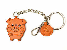 Pig Handmade 3D Leather Animal Keychain Bag/Ring Charm VANCA Made in Japan 26053