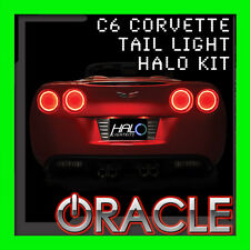 2005-2013 CHEVY CORVETTE C6 RED LED TAIL LIGHT HALO RING KIT BY ORACLE LIGHTING