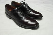 Allen Edmonds Burgundy/Black All-Leather POLO Shell Cordovan Saddle Oxfords 10AA